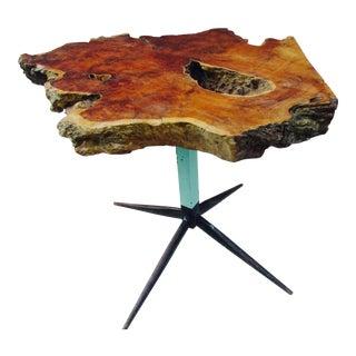 Ooak Live Edge Walnut Slab Table Atomic Industrial Base