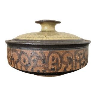 Mid Century Studio Pottery Covered Dish