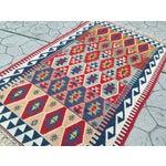 "Image of Anatolian Kilim Rug Natural Dyes, 4'9""x7'8"""