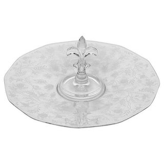 1950's Glass Floral Etched Server