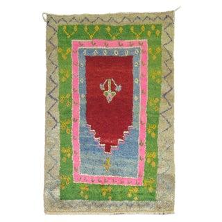 Vintage Turkish Tulu Prayer Rug - 3'9'' X 5'10''