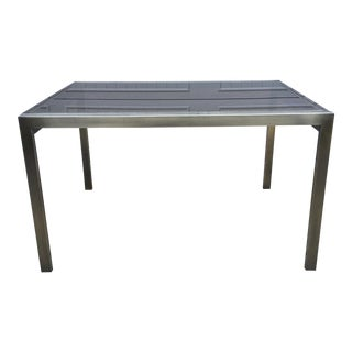 Mastercraft Vintage Brass & Glass Dining Table
