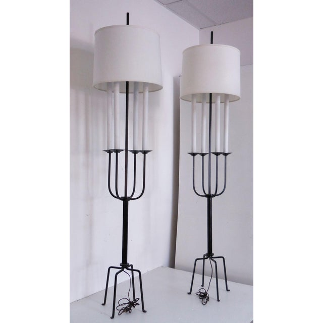 Tommi Parzinger Mid-Century Floor Lamps - A Pair - Image 2 of 8