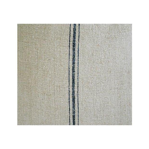 Image of Vintage French Textile Grain Sack Pillows - Pair