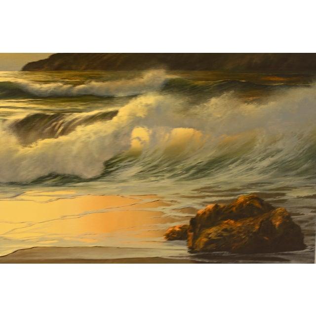 Vintage William Hoffman Seascape Painting - Image 4 of 5