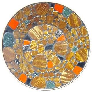 Mid-Century Modern Round Mosaic Bowl