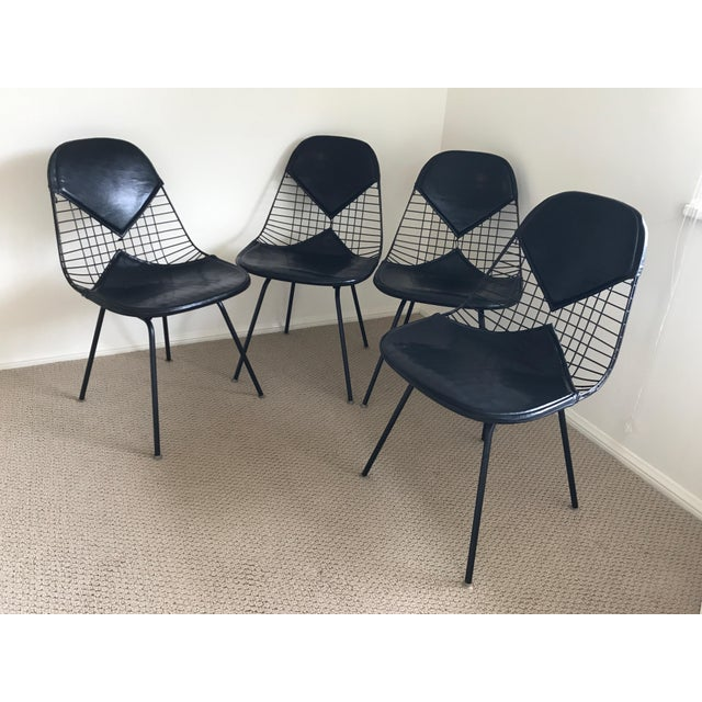 Eames for Herman Miller Black DKR-2 Bikini Chairs - Set of 4 - Image 2 of 11