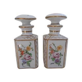 Vintage Porcelain Vanity Jars - Pair