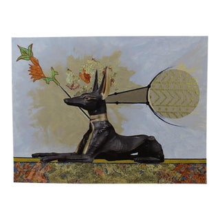 "Carl M. George ""Anubis"" Original Collage Painting"