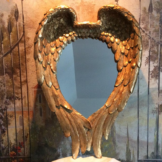 Gilded Angel Wings Mirror - Image 2 of 8