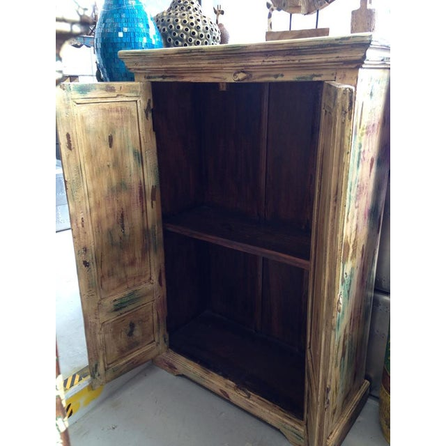 Multi Colored Two Door Wooden Armoire Chairish
