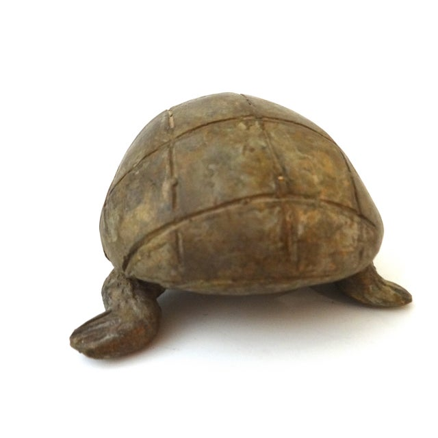 Bronze African Ashanti Akan Sculpture - Turtle - Image 3 of 8