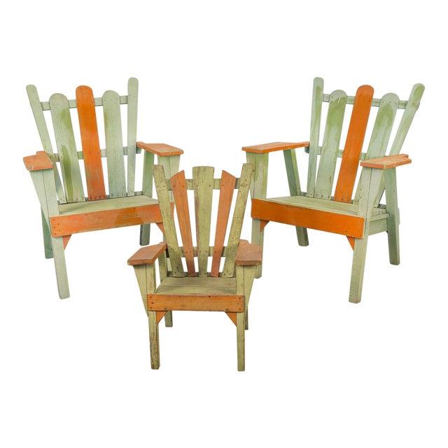 Family Set of Adirondack Chairs - Image 1 of 11