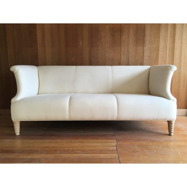 Twisted Leg Sofa + Custom Upholstery Service - Image 3 of 7