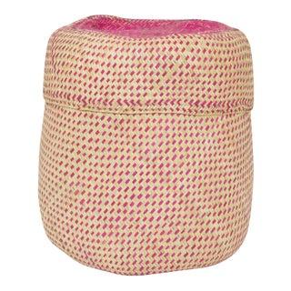 Boho Pink Oaxaca Palm Basket