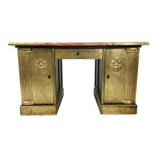 French Neo-Classical Style Gold Leaf Desk