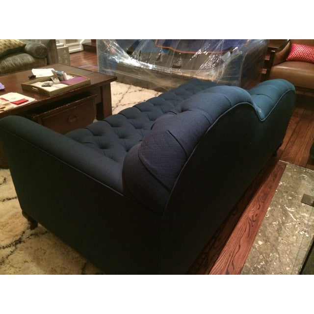 Navy Blue Tufted Chaise Or Lounge Chairish