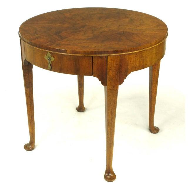 """Baker Furniture """"Milling Road"""" Figured Walnut Regency Side Table - Image 2 of 10"""
