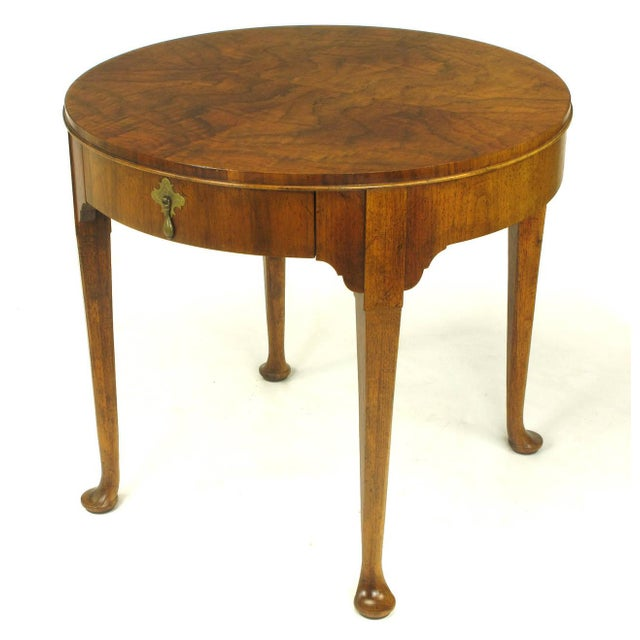 "Image of Baker Furniture ""Milling Road"" Figured Walnut Regency Side Table"