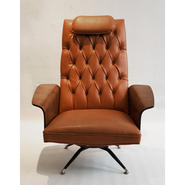 Vintage George Mulhauser Tufted Lounge Chair for Plycraft - Image 4 of 4