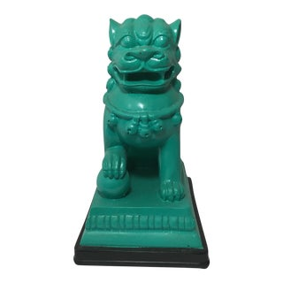 Turquoise Foo Dog Figurine