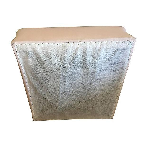 Vintage Pink Wicker Barkcloth Settee Sofa - Image 7 of 8