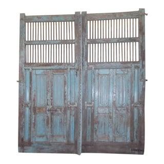 Antique Indian Blue Door