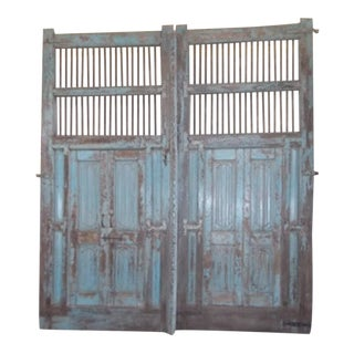 Antique Indian Blue Door