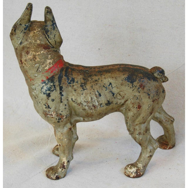 1940s Cast Iron Boston Terrier Dog Doorstop - Image 6 of 9