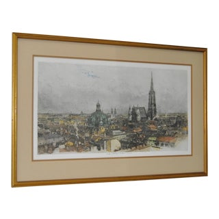 "Luigi Kasimir ""Vienna"" Color Etching c.1940s"