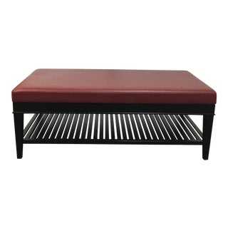 A. Rudin Red Leather Bench