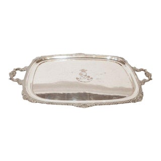 Vintage Silver-Plated Serving Tray