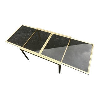 Hollywood Regency Gilt Metal Extension Dining Table