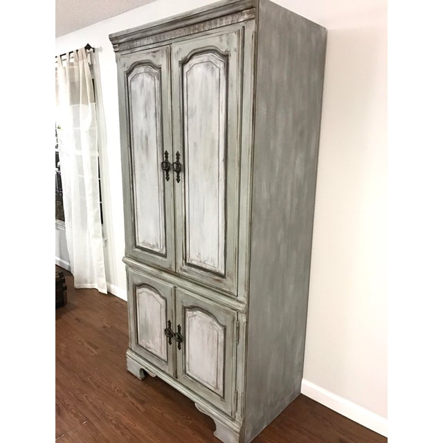 Image of Distressed Shabby Chic Armoire