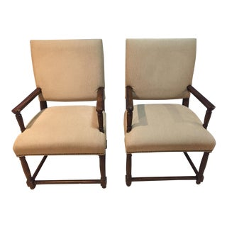 Transitional Arm Chairs - A Pair