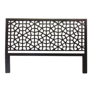 Black Wooden Latticework Headboard