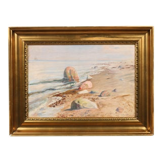 1936 Rounded by Waves Oil Painting
