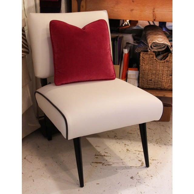 Fuschia Pink Velvet Pillows - Pair - Image 3 of 3