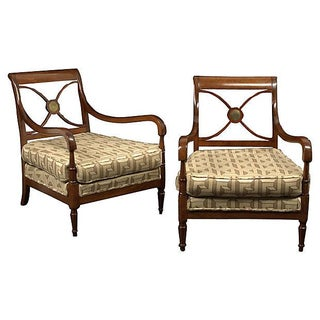 Vintage 1940s French Maison Jansen Fauteuils -Pair