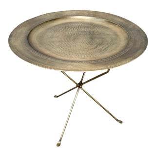 Brass Folding Tray Table
