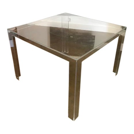 Kartell lucite table chairish for Table exterieur kartell