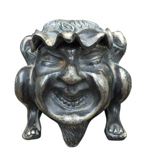 Early 1900s Antique Grotesque Devil's Head Inkwell
