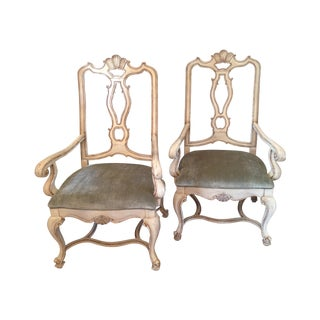 Carved Italian Armchairs - A Pair