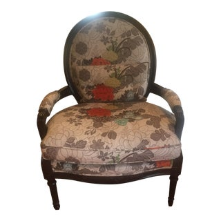 Floral Bergere Arm Chair