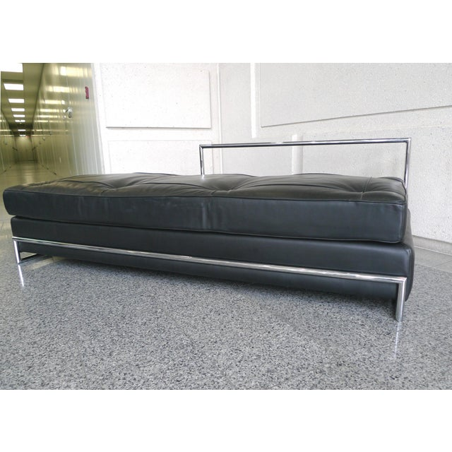 Image of Eileen Gray Chrome and Leather Daybed