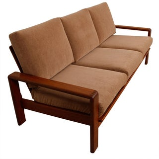 Vintage Teak Sofa with New Upholstery