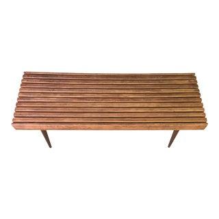 Mid-Century Slat Bench