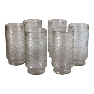 Retro Tumbler Drinking Glasses / Jelly Jars - Set of 6