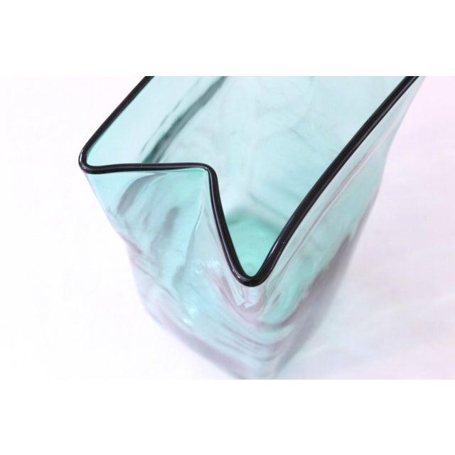 Blenko Paper Bag Vase - Image 4 of 4