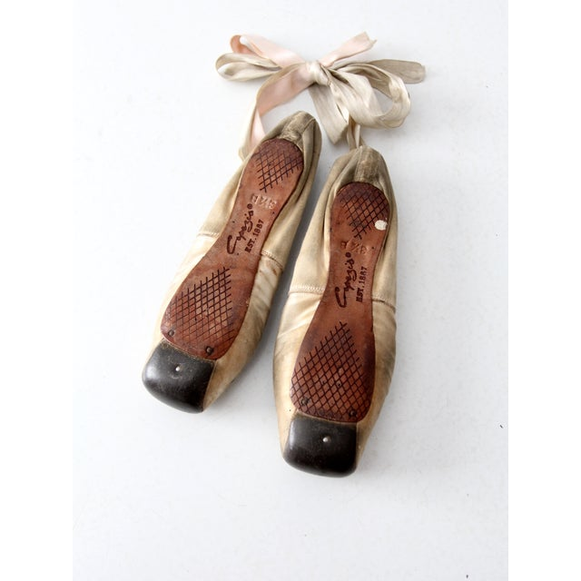 Image of Vintage Capezio Duro Toe Ballet Slippers - A pair